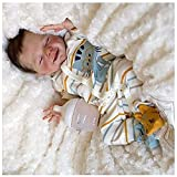 JXWANG MuñEco Reborn Real, 18 Pulgadas 46 Cm Bebé Reborn Silicona Reales - Nenuco Bebe, Regalo De CumpleañOs para NiñOs