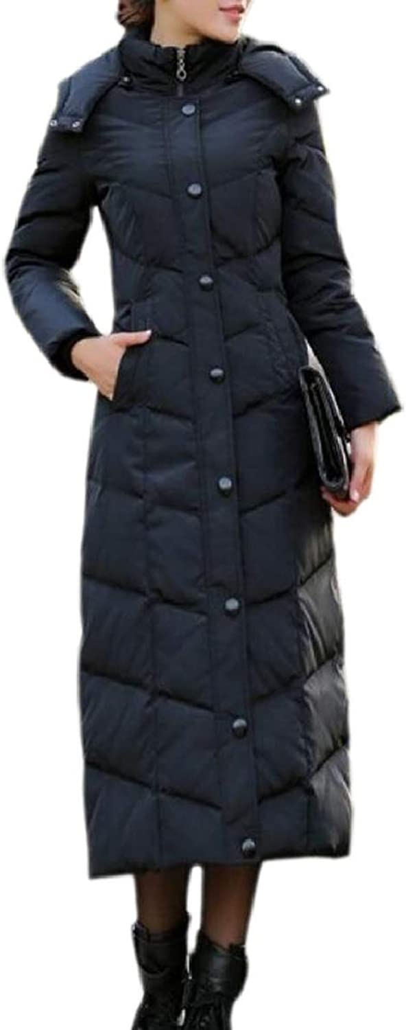 TymhgtCA Womens Hood Winter Down Jackets Long Puffer Coats with Pockets