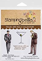 Stamping Bella Cling Stamps-Edgar And Molly Vintage Martini Men Set