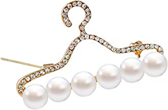 BIGBOBA Pearl Micro-Inlaid Rhinestone Hanger Brooch Anniversary Gifts Valentine's Day for Men Women Adult
