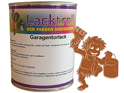 Garagentorlack Orangebraun RAL 8023 Seidenglanz 375ml