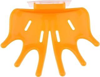 Hellery 多機能ハンドシェイプソープディッシュバスルーム、スティッキングバーソープホルダーラック - オレンジ