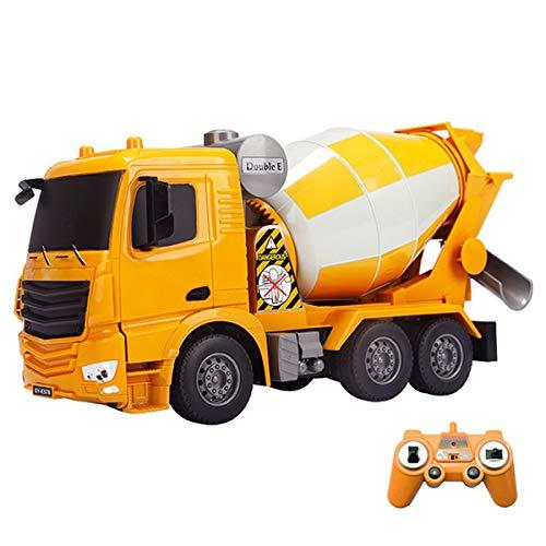 XIAOKEKE Control Remoto Camión Cisterna De Concreto Mezclador De Cemento Bulldozer Cargador Excavadora RC Coche Eléctrico Camión De Juguete Cemento Niño Niños Juguetes