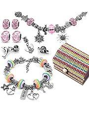 Meisjescadeaus voor 8-12 jaar, zelf armbanden maken, sieraden knutselset meisjes kits met bedeltjes hanger parels ketting voor het maken van sieraden, bedelarmband vriendschapsarmband armband knutselen voor kinderen