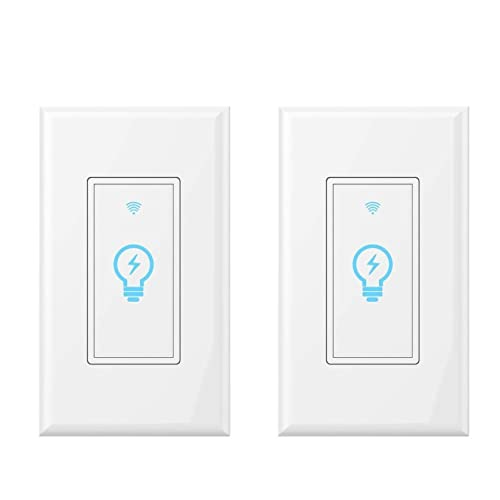 Smart Light Switch, Works with Amazon Alexa, Google Home IFTTT, App and Voice