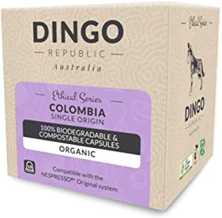 80 Colombia Biodegradable Pods for Nespresso* | Organic Coffee in Compostable Capsules | 8/10 by Dingo Republic
