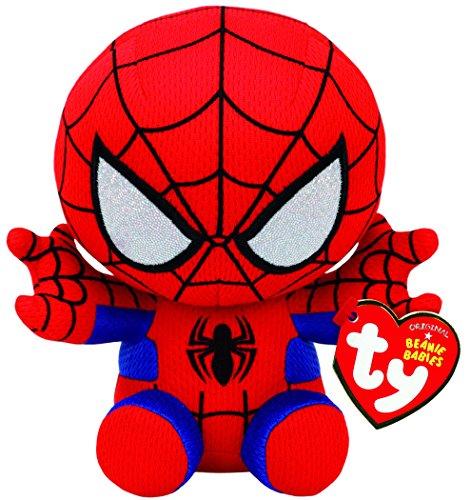 TY 41188 Marvel Spiderman Plüsch, Rot/Blau/Schwarz