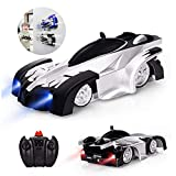 Wall Climbing Remote Control Car Toys, with Dual Mode 360°Rotating Stunt Rechargeable High Speed Vehicle with Led Light, Best Gift for Boys and Racing Enthusiast 【Black】