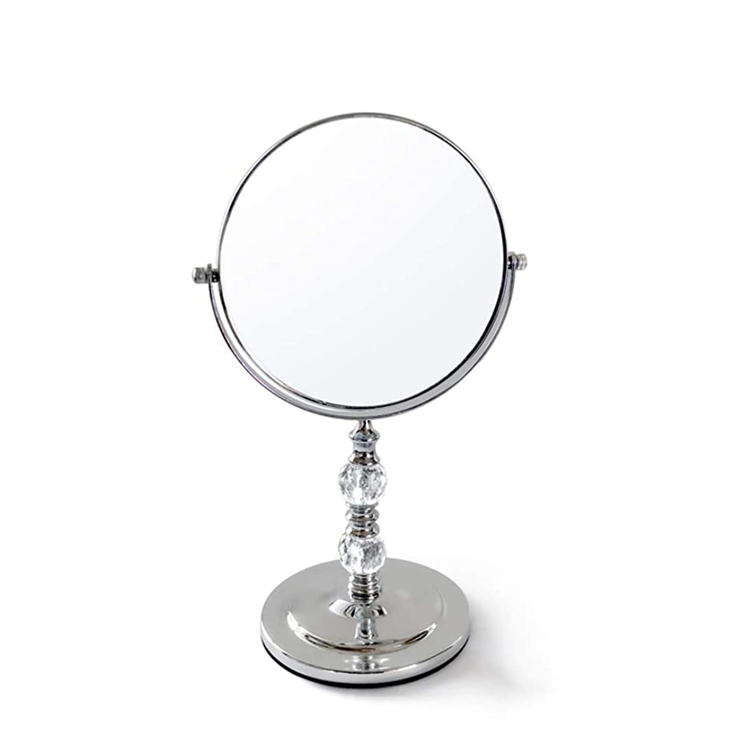 マキシム垂直正直DNSJB メイクアップミラー、360度回転ダブルミラー/片面拡大鏡/ラウンド で利用可能 (Size : 22.5*35*13.3cm)