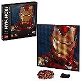 LEGO 31199 Art Marvel Studios Iron Man Póster de coleccionista DIY, Decoración de Pared, Imagen Personalizable, Set de Construcción para Adultos
