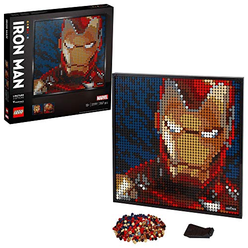 LEGO 31199 Art Marvel Studios Iron Man Collectors DIY Poster, Wall Décor, Multipart Canvas, Set for Adults