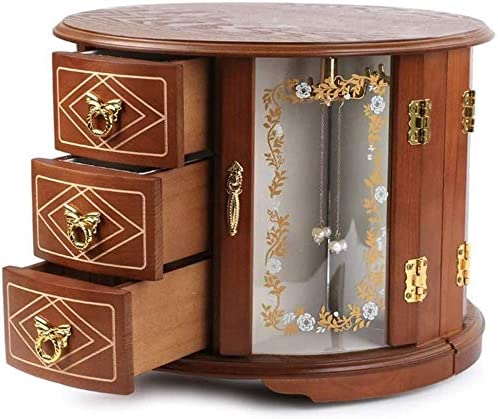 MWXFYWW Upscale Jewellery Chest Wooden European Jewe Retro Style Our outlet shop OFFers the best service