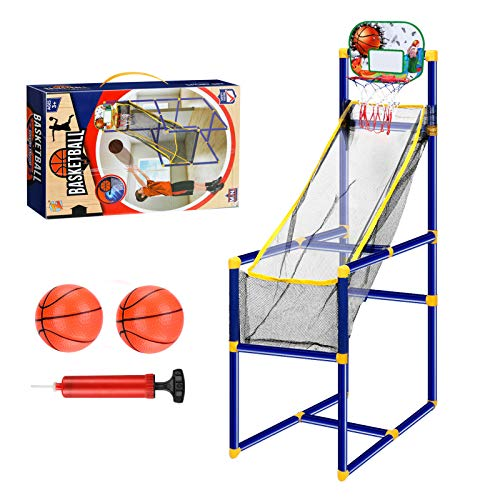 Allnice Basketball Arcade Game for Kids, Toddlers Arcade Basketball Hoop Indoor Basketball Shooting System Sports Toys with 2 Inflatable Balls & Pump