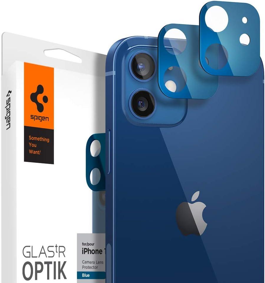 Protector de lente Spigen para Iphone 12 (Azul, Pack de 2)