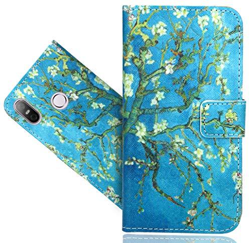 HTC U12 Life Handy Tasche, FoneExpert® Wallet Case Flip Cover Hüllen Etui Hülle Ledertasche Lederhülle Schutzhülle Für HTC U12 Life