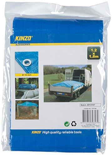 Kinzo 1,8 m x 1,2 m bâche – Bleu