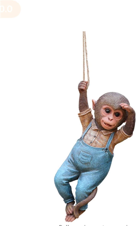 Creative Garden Monkey safety Sculpture Statue Resin Simulation Animal Miami Mall