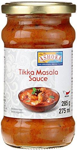 ASHOKA Fertigsauce für Tikka Masala, 6er Pack (6 x 285 g)