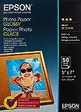 Epson Photo Paper Glossy - Papel fotográfico brillante, 127 x178 mm, 50 hojas