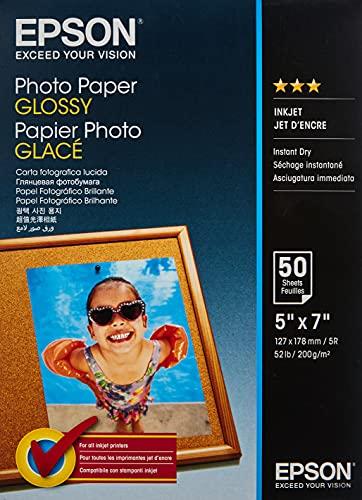 EPSON Foto Papier glänzend 200g/m2 127 x178 mm 50 Blatt 1er-Pack