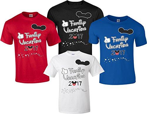 Disney Family Vacation T-Shirts Matching Cute Mickey T-Shirts (Black, M Adult)