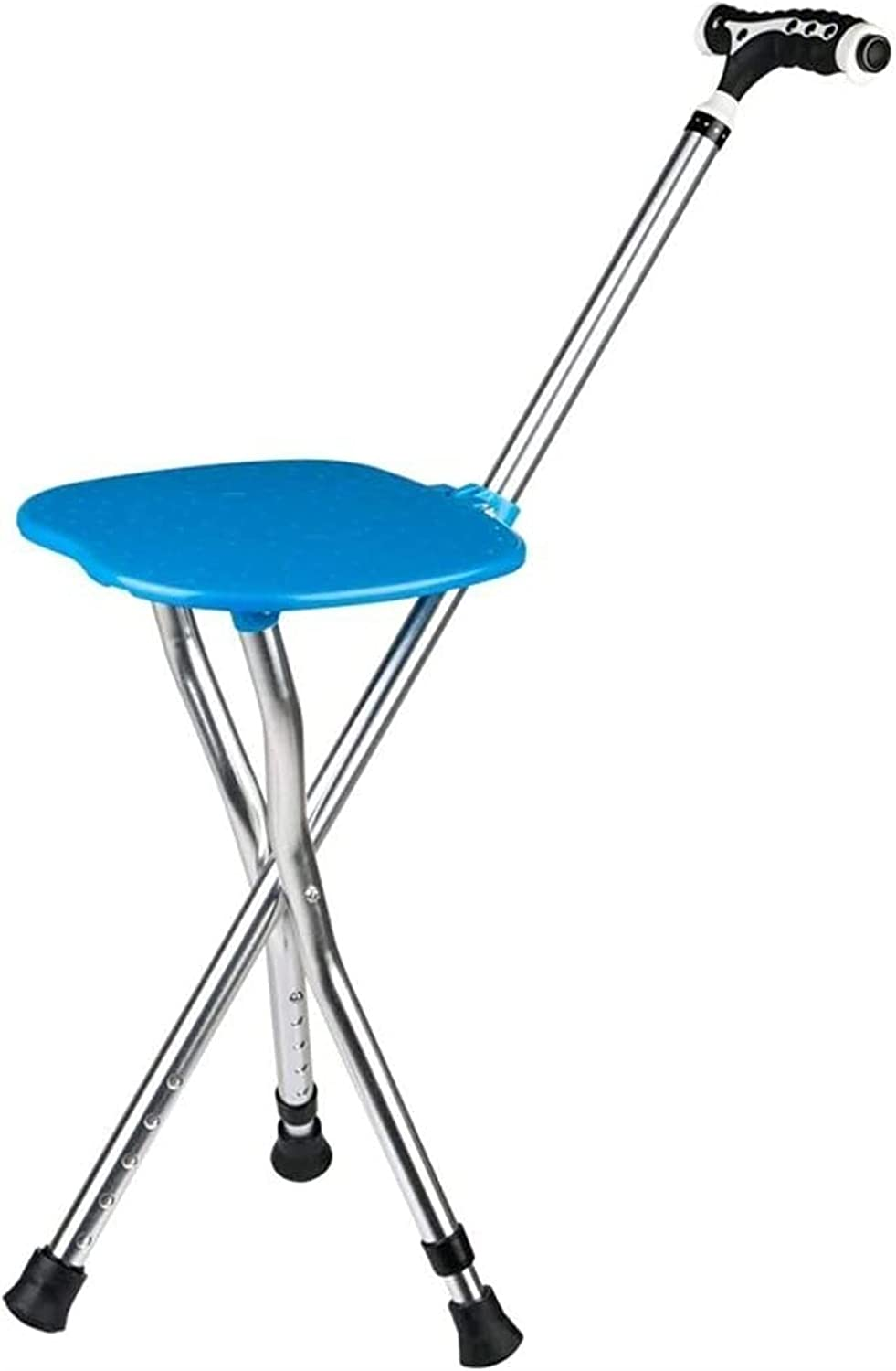 Folding Cane Comes with a A surprise price is realized Chair Bombing free shipping Multifun The Stool Elderly