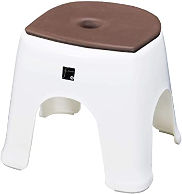トンボ 風呂イス クッション セット 日本製 幅30×奥行36×高さ30cm 抗菌 ホワイト ブラウン 新輝合成 N30