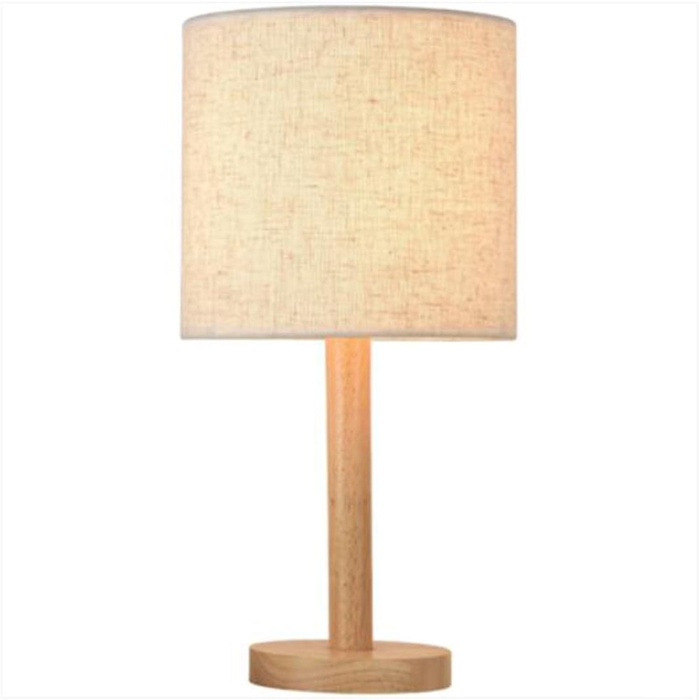 Tischlampe NAN Massivholz Zylindrischen E27 5 Watt Led Warmes Licht Wohnzimmer Schlafzimmer (gre   19  38cm)