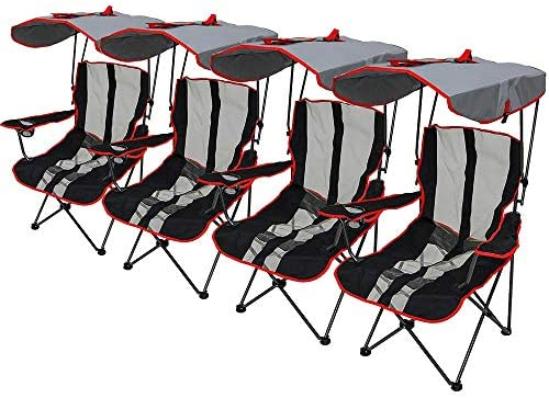 Kelsyus Premium Canopy Chair Red 4 Pack product image