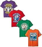 WWE boys Wwe John Cena 4-pack T-shirt T Shirt, Kelly Green/Purple/Red/Orange, Large US