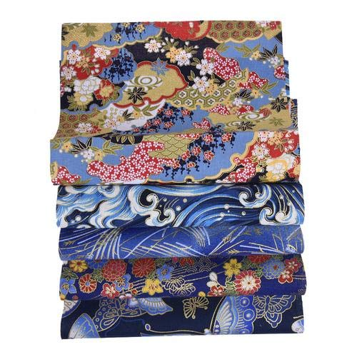 N/Y 5 piezas 50 x 50 cm tela de algodón patchwork de estilo japonés, tejido de algodón puro para bricolaje, costura, patchwork, manta de rostro artesanal