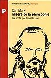 MISERE DE LA PHILOSOPHIE - Payot - 30/03/1996
