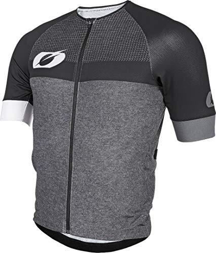 O'Neal | Maillot de Mountain Bike | MTB Mountain Bike DH Downhill FR Freeride | Material Transpirable, Dobladillo elástico, Manga Corta | Maillot aéreo Split | Adultos | Negro Gris | Talla L