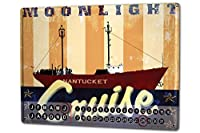 カレンダー Perpetual Calendar Oceans M.A. Allen Moonlight Cruise Tin Metal Magnetic