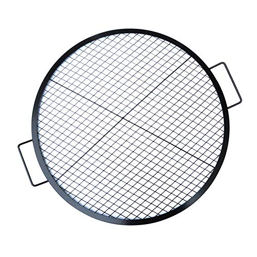 Stanbroil Heavy Duty X-Marks Fire Pit Cooking Grill Grates with Support X Wire - Outdoor Round BBQ Campfire Grill Grid - Camping Cookware, 30 Inch
