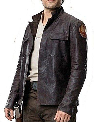 Poe Dameron Star Wars The Last Jedi Oscar Isaac Lederjacke, Braun Gr. S, Kunstleder