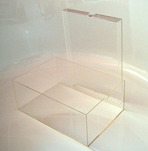 Schuhbox / Display Box mit Deckel für Sammler aus Acryl Glas, Aufbewahrungsbox, Sammelbox, Stapelbox, Groß, Transparent (ca. 13x22x33 cm)