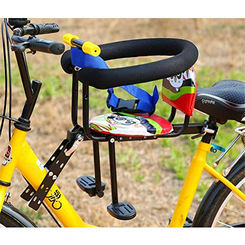 DGHJK Asiento para niños de Montaje Delantero de Bicicleta con reposabrazos y Pedal Asiento de Seguridad de desmontaje rápido Rodamiento de 60 KG para Bicicleta Electrombile