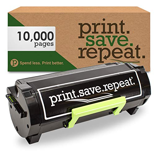 Print.Save.Repeat. Lexmark 501X Extra High Yield Remanufactured Toner Cartridge for MS410, MS415, MS510, MS610 [10,000 Pages]