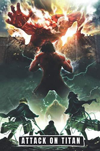 Attack on titan 3 Notebook: Manga L'Attaque des Titans 3 lined paper Jean Kirstein Reiner Braun Bertholdt Hoover Annie Leonhart