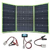 YUANFENGPOWER 150w 12 V panneau solaire kit 3 x 50w pliable Chargeur solaire portable module monocristallin avec contrôleur 20A pour bateau, voiture, caravane, camping-car, camping, batterie 12v (150)