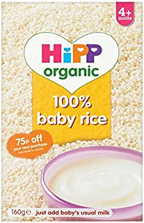 HiPP Organic Stage 1 From 4 Months Baby Rice 160 g (Pack of 4)