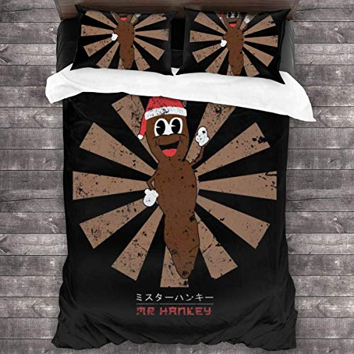 Fantastic Fairy Mr Hankey The Christmas Poo Retro Japanese 3 Pieces Bedding Set Cover Decorative with 2 Pillow Cases