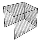 Aoneky Filet de Cage pour Golf Practice 3x3x3M, Maille Carrée 2.5x2.5cm, Corde 3mm - Cage de Pratice pour l'Entrînement Golf, Kickball, Hockey(Noir)