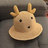 zdfbhkm Sombreros para niños, Sombreros de Paja para niños en Primavera y Verano, Sombreros de Pescador para bebés, Protectores solares de Verano para niños, Lindas Chicas súper Lindas A