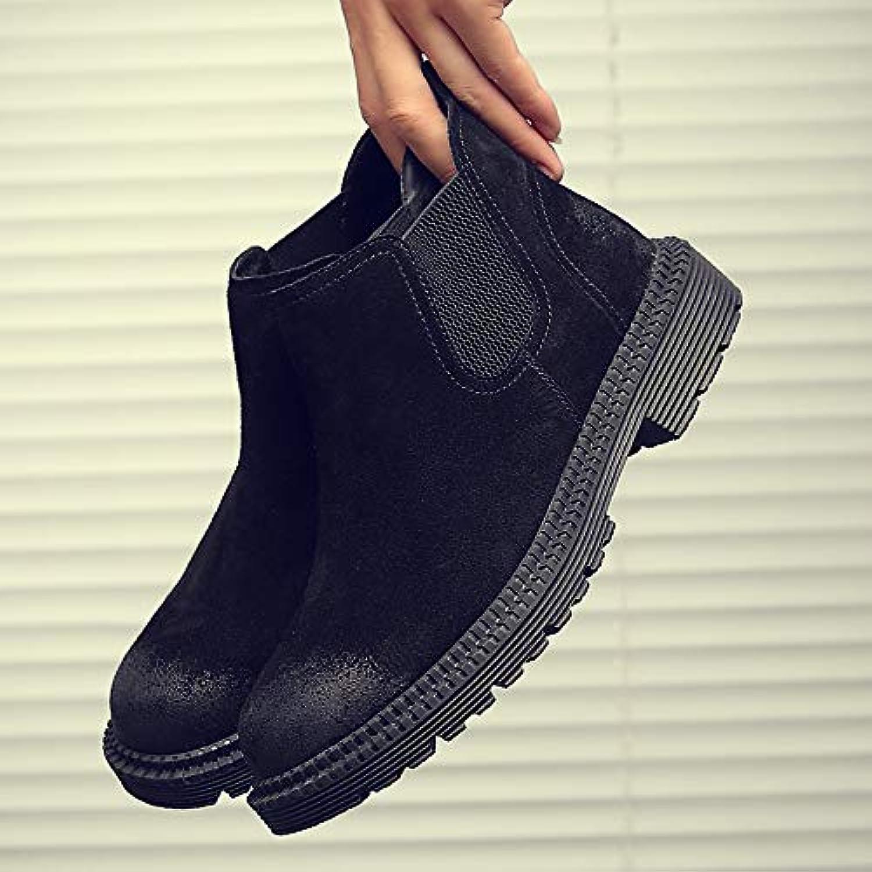 LOVDRAM Boots Men's Men'S Chelsea Booties Men'S Boots Martin Boots Pu Winter Help Retro High Top shoes Wild
