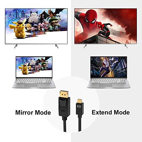 ICZI Mini DisplayPort to DisplayPort Kabel 1,8m | 4K@60Hz Ultra HD | Mini DP auf DP Verbindungskabel Thunderbolt 2 Kompatibel mit MacBook Pro/Air, Mac Pro, Surface Pro und mehr
