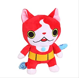 qwerqz Soft Toys-Japanese Animation Cute Yo-Kai Watch Youkai Watch Jibanyan Laugh 22cm Peluches para Niños Cute