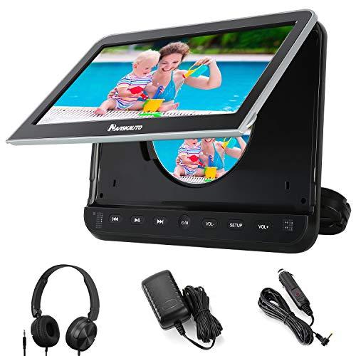 "NAVISKAUTO 10,1\"" DVD Player für Auto Tragbarer DVD Player 1080P HD Bildschirm Kopfstütze Monitor Memory HDMI Eingang SD USB mit Kopfhörer / AC Adapter / AV Kabel"