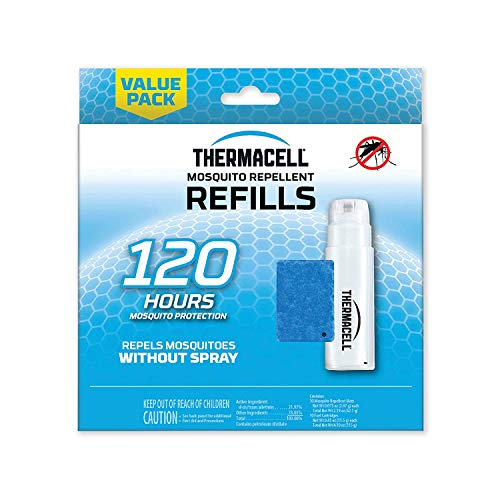 Thermacell Mosquito Repellent 120-Hour Refill; Includes 10 Fuel Cartridges & 30 Repellent Mats; Compatible With Fuel-Powered Thermacell Repellers; Scent-Free, DEET-Free Bug Spray Alternative